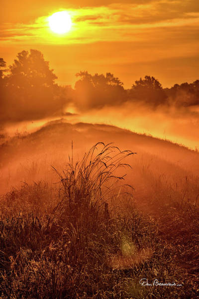 Photograph - Foggy Sunrise 8171 by Dan Beauvais