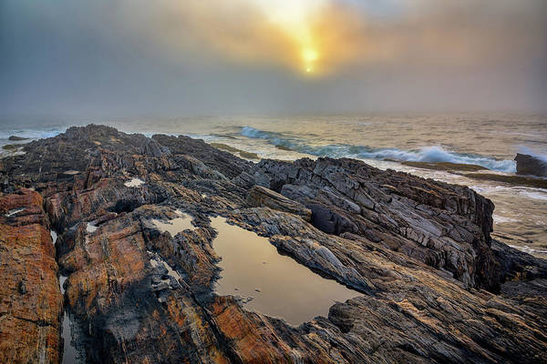 Wall Art - Photograph - Foggy Sunrise At Giant's Stairs by Rick Berk