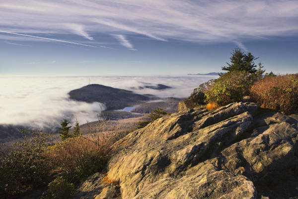 Photograph - Foggy Sunrise At Grandfather Mountain by Ken Barrett