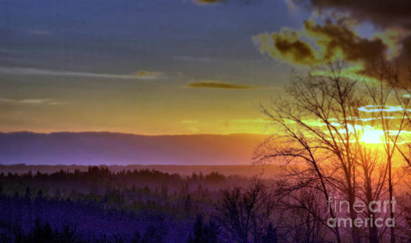 Photograph - Foggy Sunset by Victor K