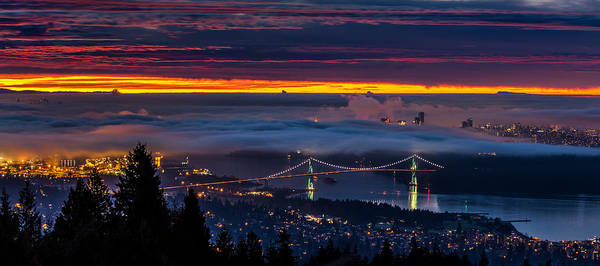 Metro Vancouver Wall Art - Photograph - Foggy Vancouver Sunrise by Pierre Leclerc Photography