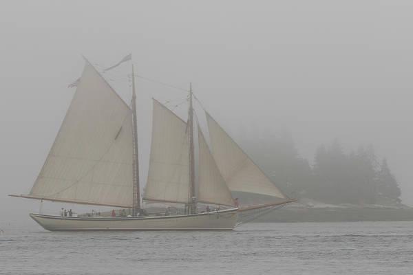 Foggy Windjammer Art Print