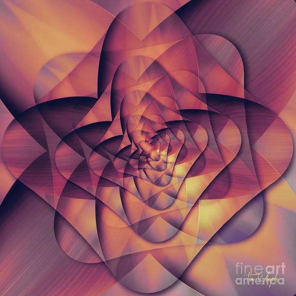 Digital Art - Folded Flower 2 by Tim Wemple