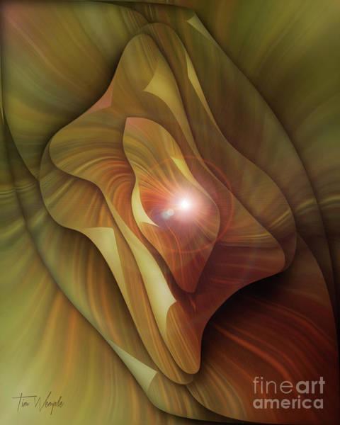 Digital Art - Folded Flower 3 by Tim Wemple