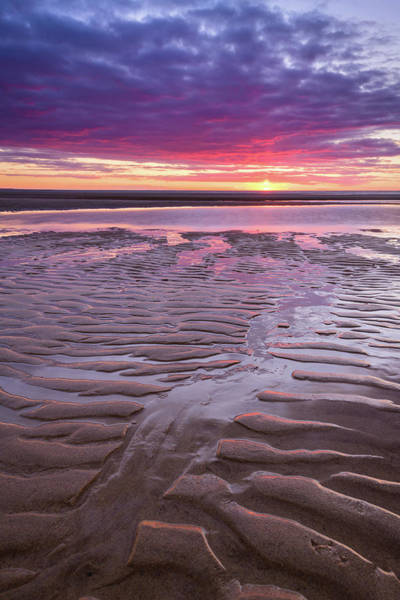 Wall Art - Photograph - Folds In The Sand - Vertical by Michael Blanchette