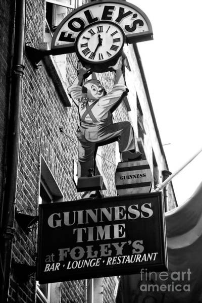 Wall Art - Photograph - Foley's Guinness Time Dublin by John Rizzuto