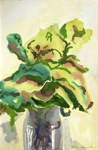 Foliage In Vase Art Print