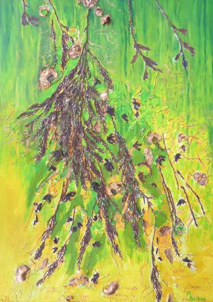 Painting - Foliage On Tree Branch by Joy of Life Art Gallery