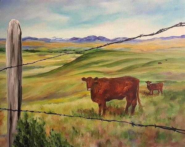 Painting - Folk Cows Up Wet Georgia   68 by Cheryl Nancy Ann Gordon