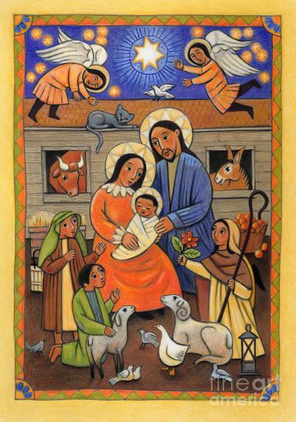 Painting - Folk Nativity - Jlfon by Julie Lonneman