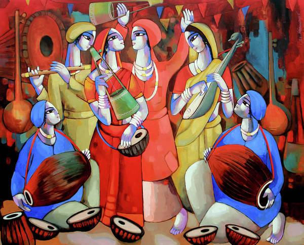 Painting - Folk Singer by Sekhar Roy