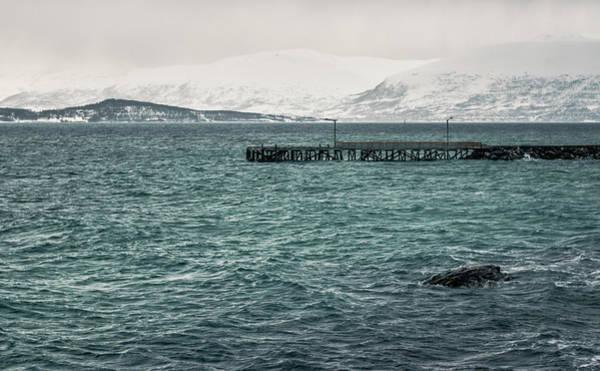 Photograph - Folkeparken Pier In Stormy Weather Tromso Norway by Adam Rainoff