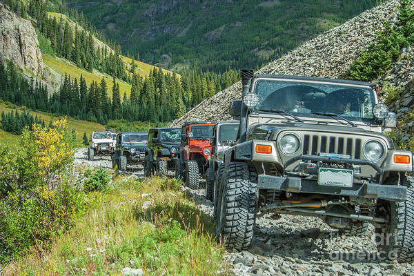 Jeep Wall Art - Photograph - Follow The Leader by Tony Baca