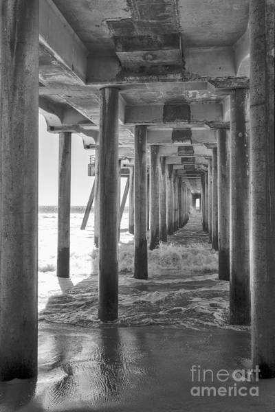 Wall Art - Photograph - Follow The Lines Under Huntington Beach Pier by Ana V Ramirez