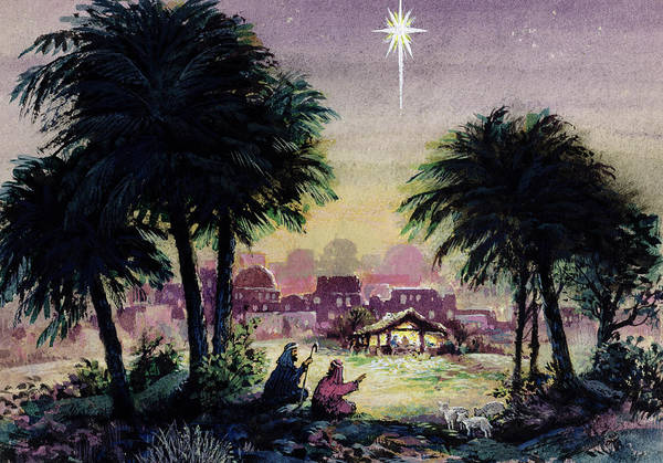 Bethlehem Wall Art - Painting - Follow The Star  by Stanley Cooke