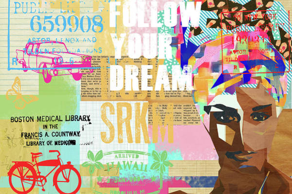 Follow Your Dream Collage Art Print