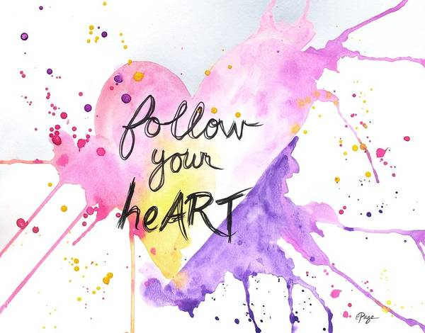 Mixed Media - Follow Your Heart by Emily Page