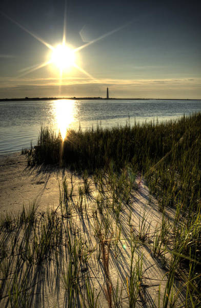 Lowcountry Photograph - Folly Beach Grass Shadows by Dustin K Ryan