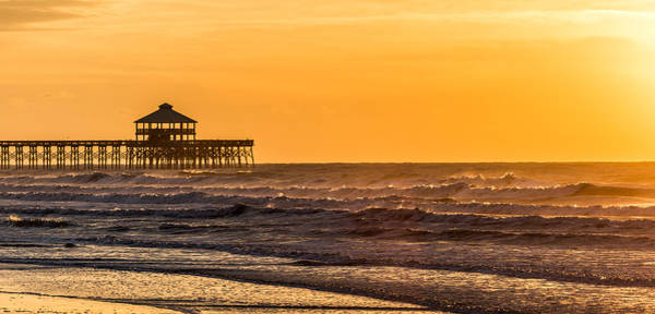 Photograph - Folly Beach Pier And Ocean Mist by Donnie Whitaker