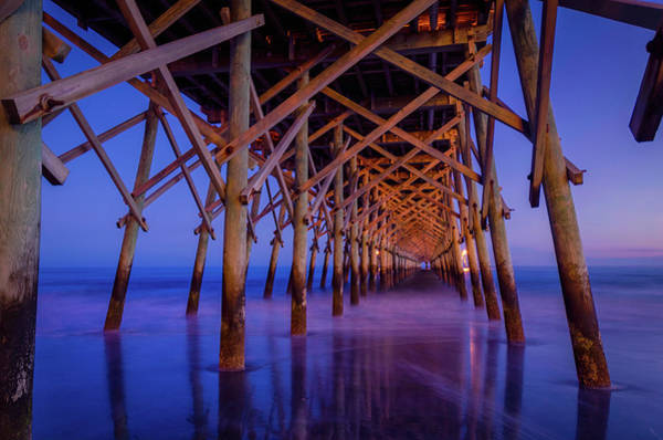 Wall Art - Photograph - Folly Beach Pier At Dusk - Charleston Sc  by Drew Castelhano