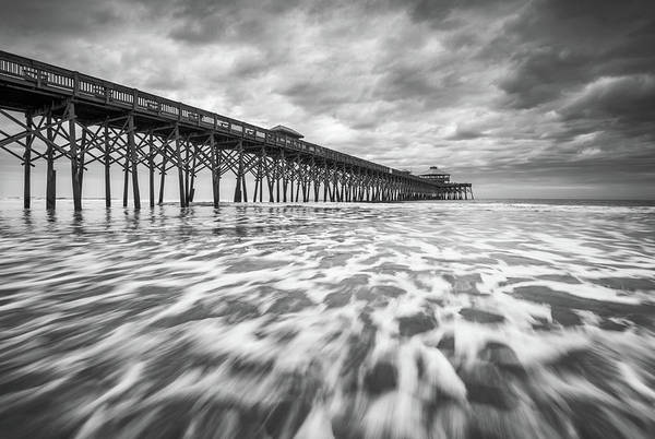 Wall Art - Photograph - Folly Beach Pier Sc Scenic Seascape Photography by Dave Allen