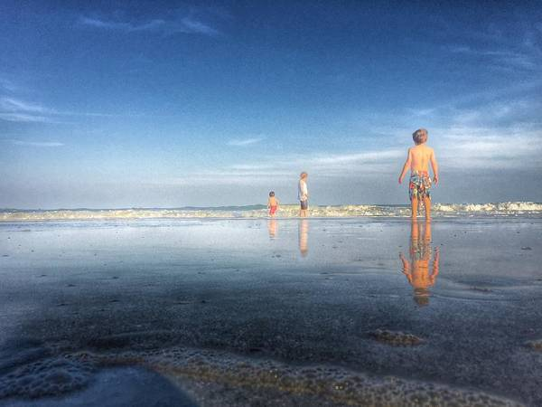 Photograph - Folly Beach Reflections by Pat Moore