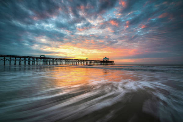 Photograph - Folly Beach Sc Ocean Seascape Charleston South Carolina Scenic Landscape by Dave Allen