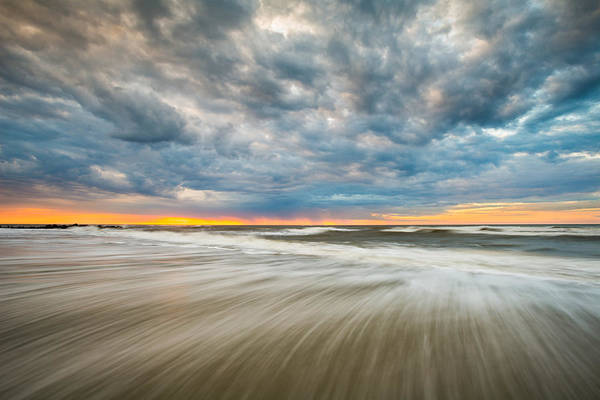 South Atlantic Wall Art - Photograph - Folly Beach Sunrise Charleston Sc Seascape by Dave Allen