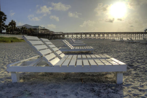 Lowcountry South Carolina Photograph - Folly Beach Sunrise Lounger by Dustin K Ryan