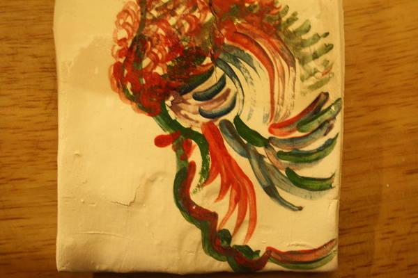 Ceramic Art - Folorn - Tile by Gloria Ssali