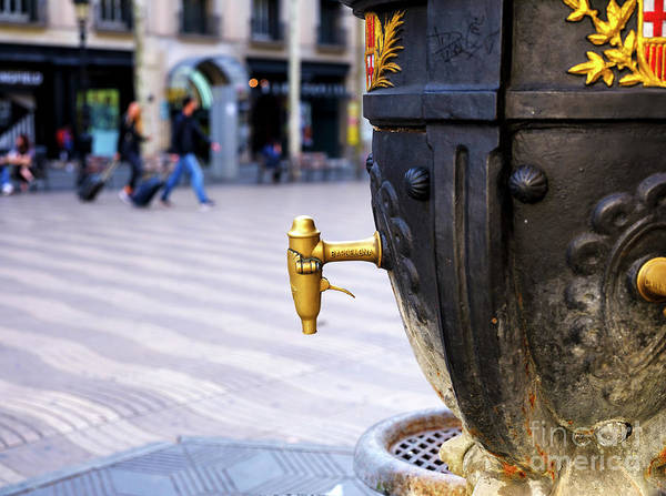 Photograph - Font De Canaletes Up Close In Barcelona by John Rizzuto