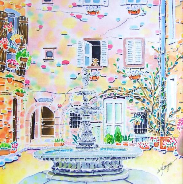 Painting - Fontaine by Hisayo Ohta