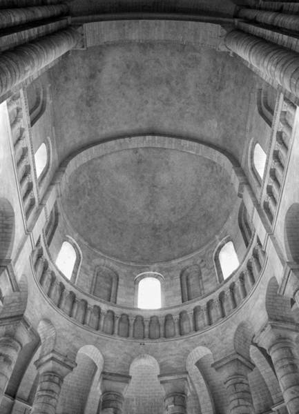 Fontevraud Photograph - Fontevraud Abbey Ceiling Bw by Dave Mills