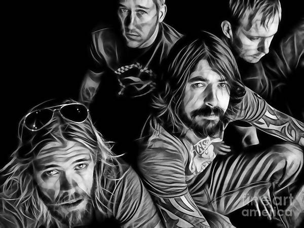 Foo Fighters Wall Art - Mixed Media - Foo Fighters Collection by Marvin Blaine