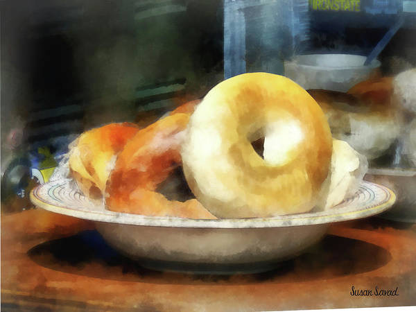 Photograph - Food - Bagels For Sale by Susan Savad