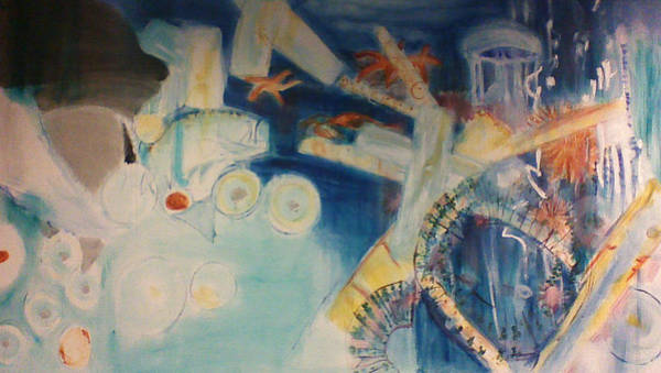 Food Chain Painting - Food Chain From The Viewpoint Of Plankton by Lori Lazar