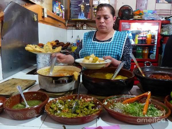 Photograph - Food Court In Paracho by Rosanne Licciardi