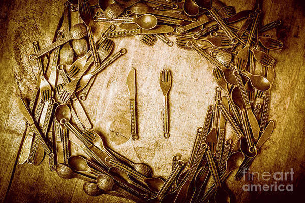 Kitchen Utensil Photograph - Foodies Circle by Jorgo Photography - Wall Art Gallery