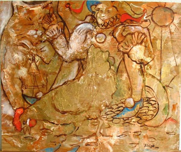 Wall Art - Painting - Fools Happiness.  by Wolga Yaguzhinskaya