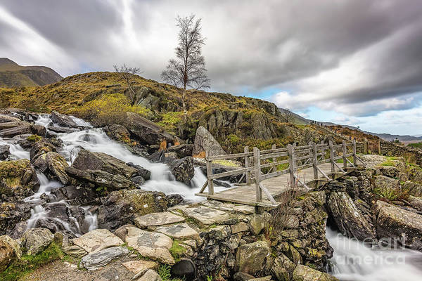 Wall Art - Photograph - Foot Bridge Rapids Snowdonia by Adrian Evans
