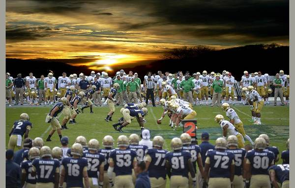 Football Field-notre Dame-navy Art Print