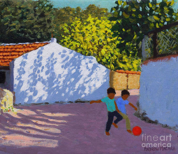 Wall Art - Painting - Football In Bodrum by Andrew Macara
