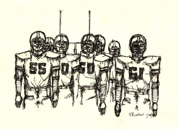 Fox Mixed Media - Football Nasties by Brett H Runion