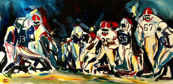 Painting - Football Night by John Jr Gholson