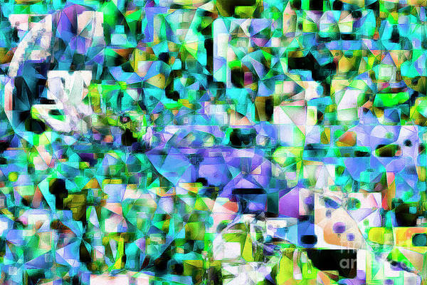 Photograph - Football Odell Beckham One Hand Catch In Abstract Cubism 20170406 by Wingsdomain Art and Photography