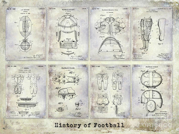 Wall Art - Photograph - Football Patent History by Jon Neidert