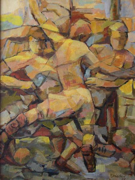 Mono Painting - Football Player by Alfons Niex