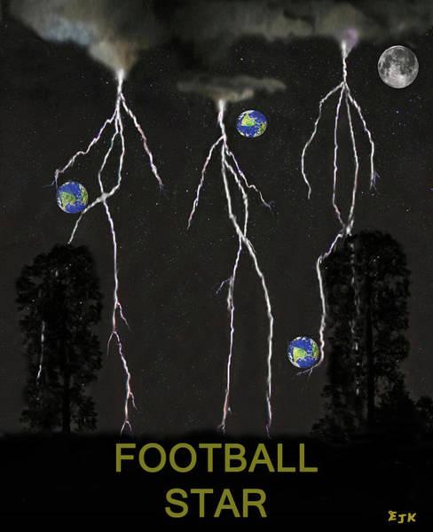 Mixed Media - Football Star by Eric Kempson