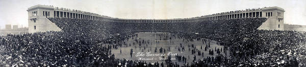 Harvard University Photograph - Football, The Game Is Over Panorama by Everett