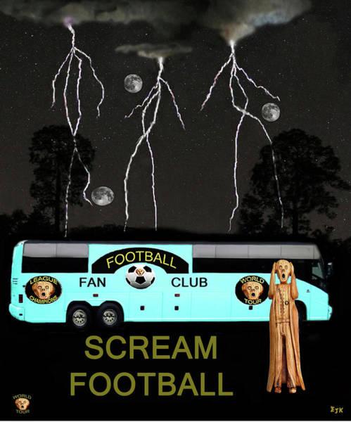 Mixed Media - Football Tour Scream by Eric Kempson